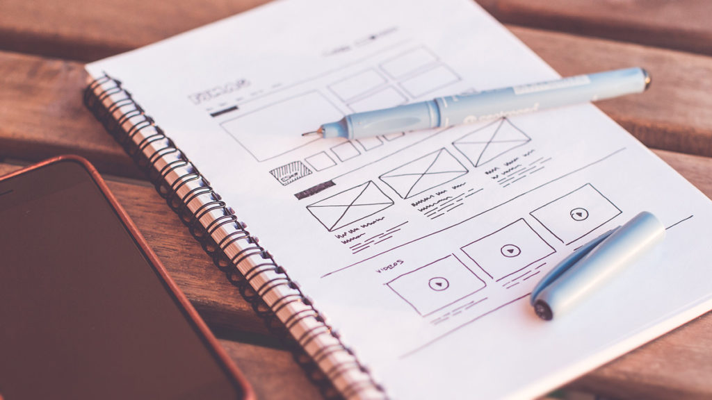 webdesign wireframe